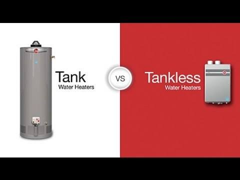 water heater vs tankless